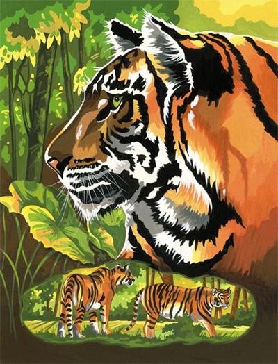 malen nach zahlen  tiger  ebay